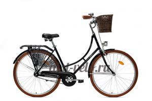 Велосипед городской  Аист Амстердам черный