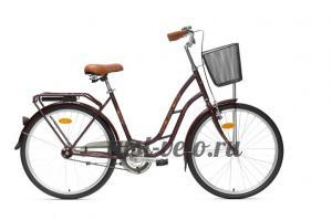 городской велосипед Аист коричневый