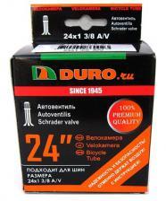 "Велокамера 24"" DURO 24x1,3/8 A/V"