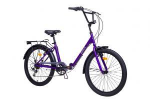 фиолетовый аист складной велосипед Smart 24 2.1