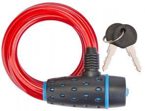 Трос-замок 87318 (1800 мм) d 8mm (Черно-синий/Красный)
