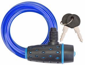 Трос-замок 87318 (1800 мм) d 8mm (Черно-синий/Синий)