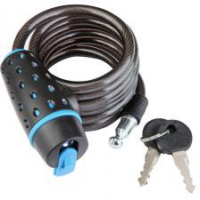Трос-замок 87318 (1800 мм) d 8mm (Черно-синий/черный)