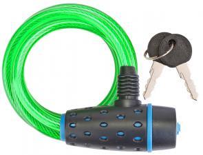 Трос-замок 87318 (1800 мм) d 8mm Черный-синий-зеленый