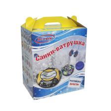 """Тюбинг 100 см серия ПРИНТ """"ЕЖИКИ"""" (в коробке)"""