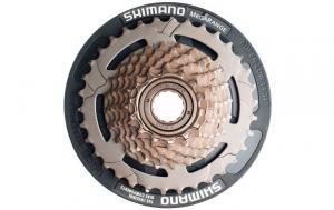 Трещотка Shimano Tourney MF-TZ31 7ск+защита цепи б/уп AMFTZ31CP7434T
