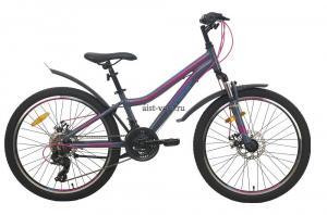 Велосипед горный AIST Rosy Junior 2.1 24 серый