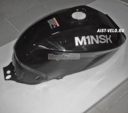 Бак топливный цвет черный с логотипом M1NSK на обеих сторонах