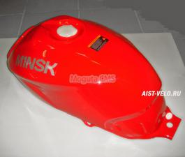 Бак топливный цвет красный с логотипом M1NSK на обеих сторонах